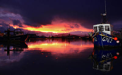 Dingle Harbour Sunset Poster