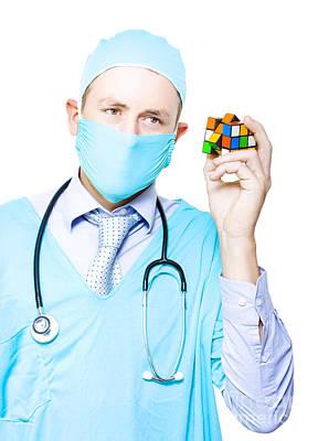 Doctor Problem Solving Medical Complications Poster