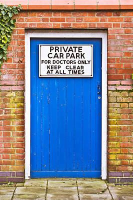 Doctors' Parking Poster by Tom Gowanlock