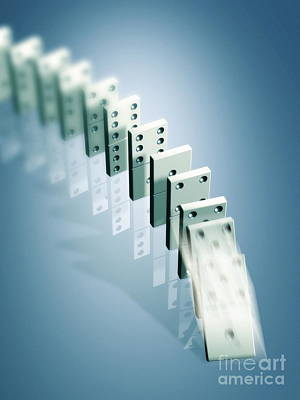 Domino Effect Poster by Pasieka
