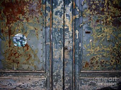 Door With Peeling Paint Poster