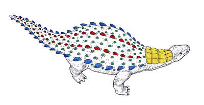 Dracopelta Dinosaur Poster