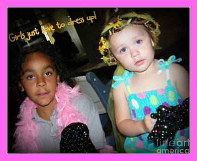 Poster featuring the photograph Dress-up Time by Bobbee Rickard