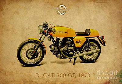 Ducati 750 Gt 1973 Poster by Pablo Franchi