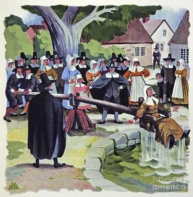 Ducking Stool, Artwork Poster