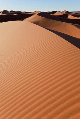 Dunes, Erg Chebbi, Sahara Desert Poster by Peter Adams