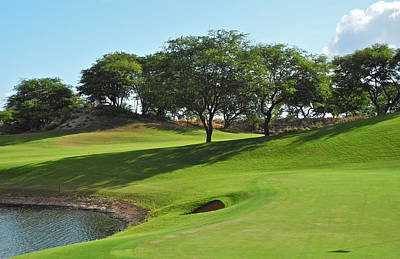 Poster featuring the photograph Dunes Of Maui Lani Golf Course  by Kirsten Giving