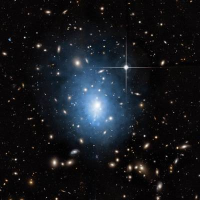 Dwarf Galaxy Poster by Nasa/cxc/univ. Of Alabama
