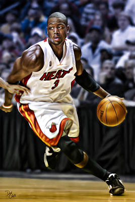 Dwayne Wade Poster by Don Olea