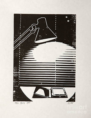 E-reading Night Poster by Igor Kislev