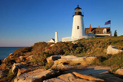 Early Morning At Pemaquid Point Poster by Brian Jannsen