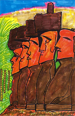 Easter Island Poster by Don Koester