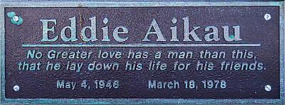 Eddie Aikau Plaque Poster by Leigh Anne Meeks