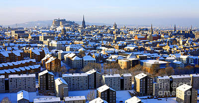 Poster featuring the photograph Edinburgh Winter Cityscape by Craig B