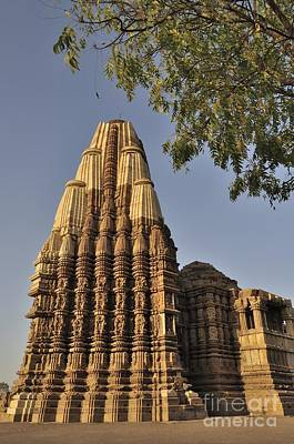 Eestern Temples Of Khajuraho Madya Pradesh India Poster