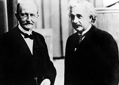 Einstein And Max Planck Poster