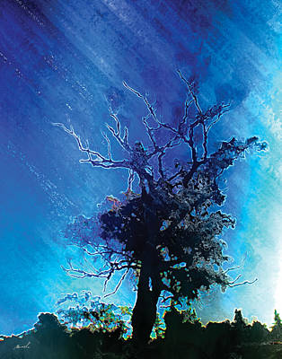 Electric Tree Poster by The Art of Marsha Charlebois