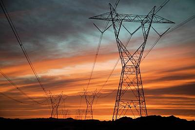 Electricity Pylons Poster