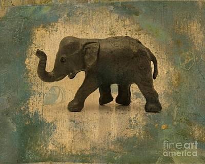 Elephant Figurine Poster by Bernard Jaubert