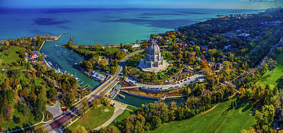 Elevated View Of Bahai Temple Poster