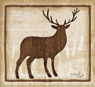 Elk Poster by Jennifer Pugh