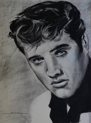Poster featuring the drawing Elvis Presley - America by Eric Dee