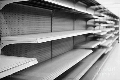 empty shelves in a store in Saskatoon saskatchewan canada Poster
