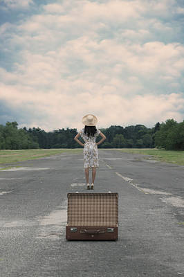 Empty Suitcase Poster by Joana Kruse