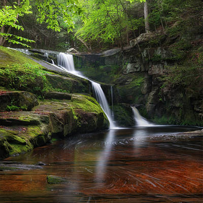 Enders Falls Spring Square Poster