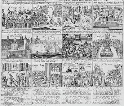 English Civil War Scenes Poster