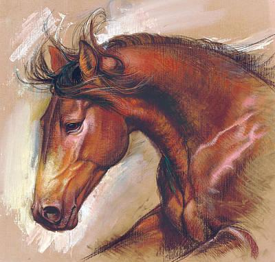English Horse Variant 1 Poster by Zorina Baldescu