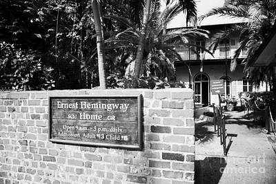 Entrance To Ernest Hemingways House Key West Florida Usa Poster
