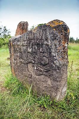 Ethiopian Stone Stele At Tiya Poster by Peter J. Raymond