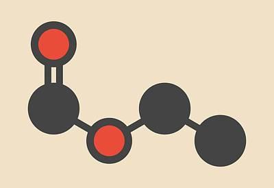 Ethyl Formate Molecule Poster by Molekuul
