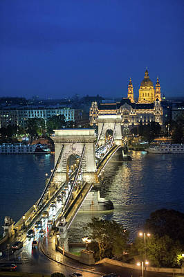 Europe, Hungary, Budapest, Chain Poster