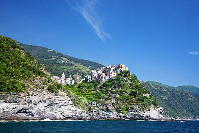 Europe Italy Cinque Terre Corniglia Poster by Terry Eggers