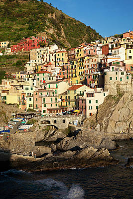 Europe Italy Cinque Terre Manarola Poster by Terry Eggers