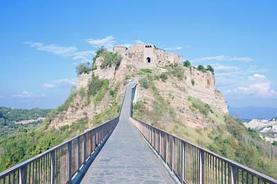 Europe, Italy, Umbria, Civita, Bridge Poster by Rob Tilley