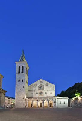 Europe, Italy, Umbria, Spoleto, Duomo Poster by Rob Tilley