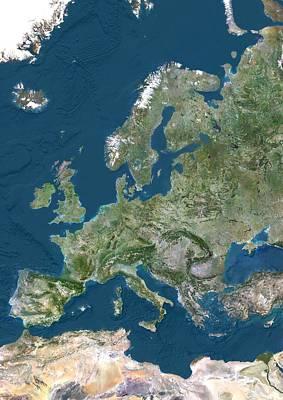 Europe, Satellite Image Poster