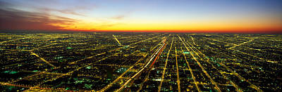 Evening Chicago Il Poster by Panoramic Images
