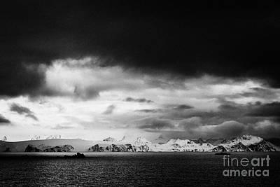 evening falls over livingstone island the south shetland islands Antarctica Poster by Joe Fox