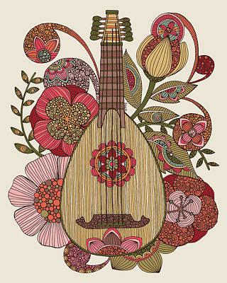 Ever Mandolin Poster by Valentina