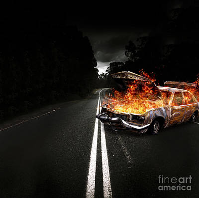 Explosive Car Bomb Poster by Jorgo Photography - Wall Art Gallery