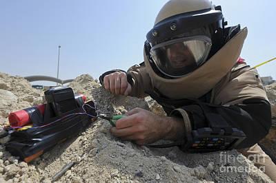 Explosive Ordnance Disposal Technician Poster by Stocktrek Images