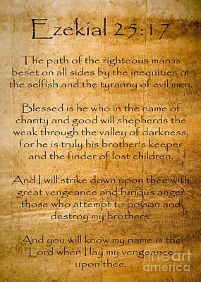 Ezekial 25 17 Poster