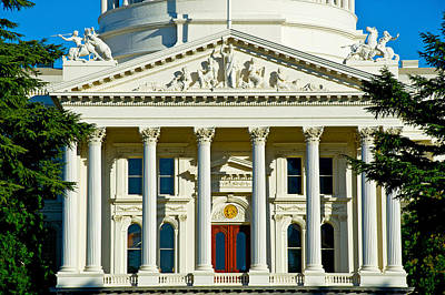 Facade Of The California State Capitol Poster