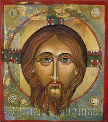 Face Of Christ Poster by Mary jane Miller