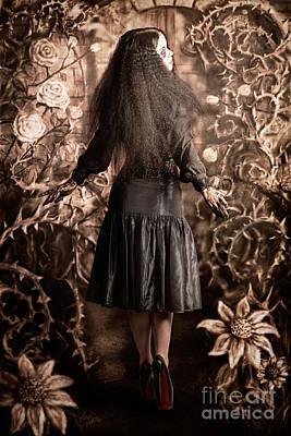 Fairy Tale Girl Walking Through Secret Garden Poster by Jorgo Photography - Wall Art Gallery