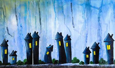Fantasy Art - Night Lights Poster by Nirdesha Munasinghe